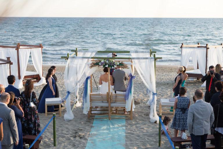 Nautin Club - cerimonia sulla spiaggia